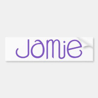Pegatina para el parachoques de la púrpura de Jami Pegatina Para Auto