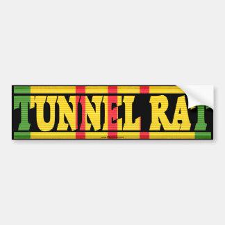 Pegatina para el parachoques de la rata del túnel  pegatina de parachoque