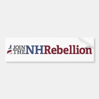 Pegatina para el parachoques de la rebelión del NH Pegatina Para Auto