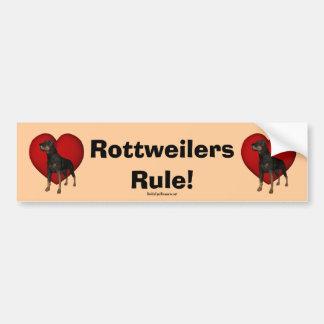 Pegatina para el parachoques de la regla de Rottwe Etiqueta De Parachoque