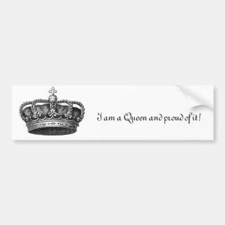 Pegatina para el parachoques de la reina pegatina de parachoque