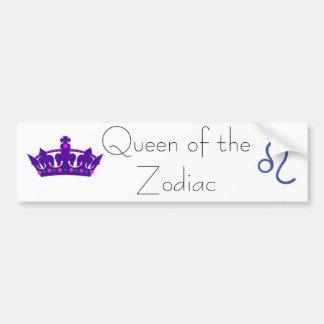 pegatina para el parachoques de la reina leo etiqueta de parachoque