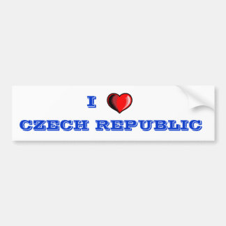 Pegatina para el parachoques de la República Checa Etiqueta De Parachoque