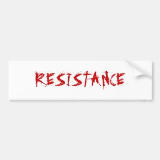 Pegatina para el parachoques de la resistencia etiqueta de parachoque