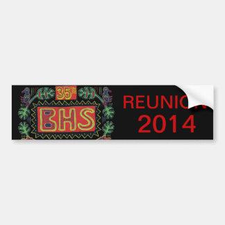 Pegatina para el parachoques de la reunión de BHS Etiqueta De Parachoque