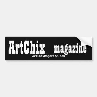 Pegatina para el parachoques de la revista de ArtC Etiqueta De Parachoque