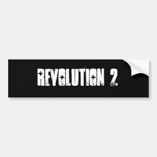 Pegatina para el parachoques de la revolución 2 pegatina para auto