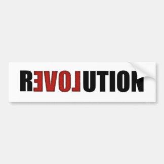Pegatina para el parachoques de la revolución (amo etiqueta de parachoque