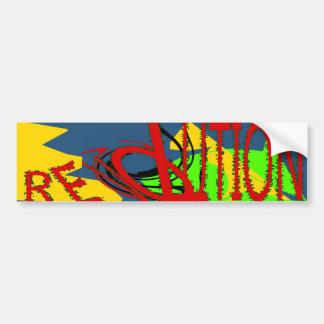 Pegatina para el parachoques de la revolución pegatina para auto