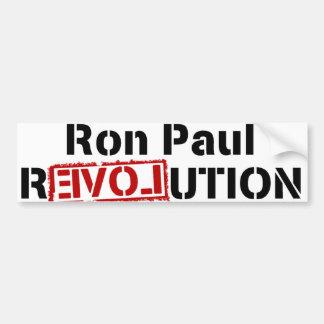 Pegatina para el parachoques de la revolución de R Etiqueta De Parachoque