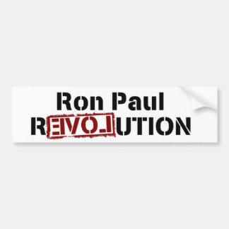 Pegatina para el parachoques de la revolución de R Pegatina De Parachoque