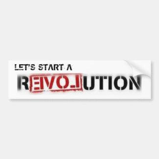 Pegatina para el parachoques de la revolución del  pegatina de parachoque