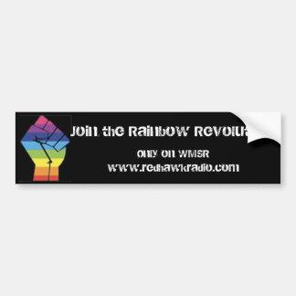 Pegatina para el parachoques de la revolución del  etiqueta de parachoque