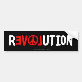 Pegatina para el parachoques de la revolución del  pegatina para auto