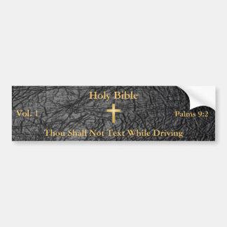 Pegatina para el parachoques de la Sagrada Biblia Pegatina De Parachoque
