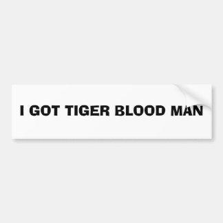 Pegatina para el parachoques de la sangre del tigr pegatina para auto
