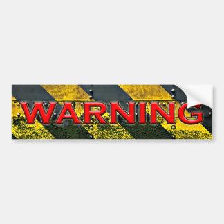 Pegatina para el parachoques de la señal de peligr pegatina para auto