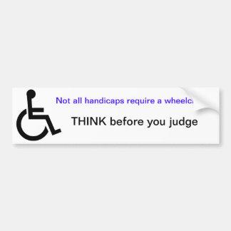 Pegatina para el parachoques de la silla de ruedas etiqueta de parachoque