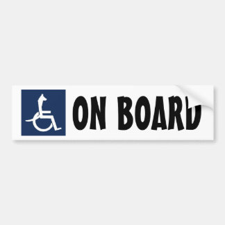 Pegatina para el parachoques de la silla de ruedas pegatina para auto