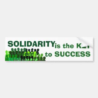 Pegatina para el parachoques de la solidaridad pegatina para auto