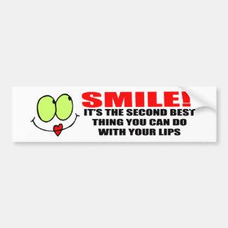 Pegatina para el parachoques de la sonrisa etiqueta de parachoque
