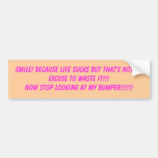Pegatina para el parachoques de la sonrisa pegatina de parachoque