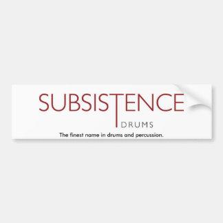 Pegatina para el parachoques de la subsistencia pegatina para auto