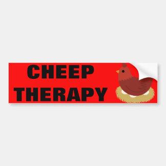 Pegatina para el parachoques de la terapia del pío pegatina de parachoque