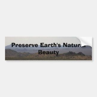 Pegatina para el parachoques de la tierra del coto etiqueta de parachoque