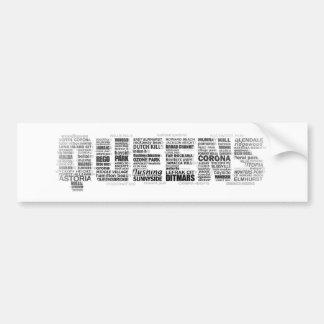 Pegatina para el parachoques de la tipografía del  etiqueta de parachoque