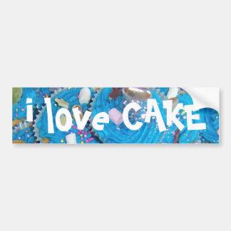 Pegatina para el parachoques de la torta del amor  pegatina para auto