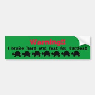 Pegatina para el parachoques de la tortuga etiqueta de parachoque