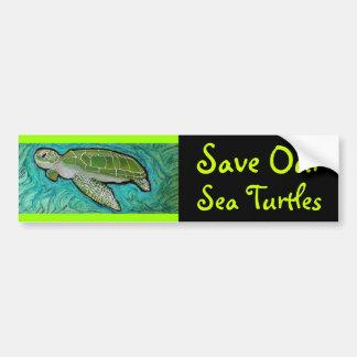 Pegatina para el parachoques de la tortuga de mar  pegatina de parachoque