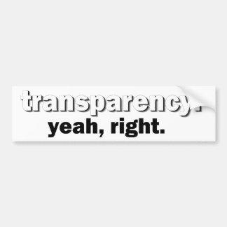 pegatina para el parachoques de la transparencia pegatina de parachoque
