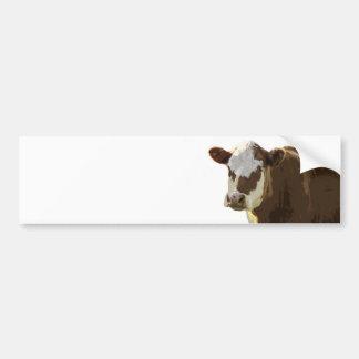 Pegatina para el parachoques de la vaca pegatina para auto