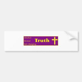Pegatina para el parachoques de la verdad pegatina para auto