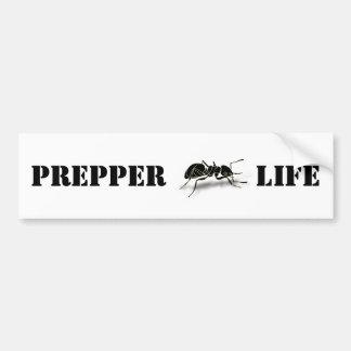 Pegatina para el parachoques de la vida de Prepper Pegatina Para Auto