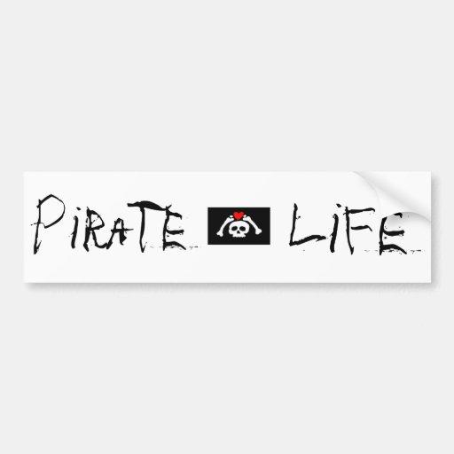 Pegatina para el parachoques de la vida del pirata etiqueta de parachoque