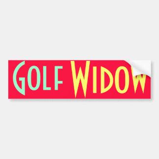 pegatina para el parachoques de la viuda de golf pegatina para auto