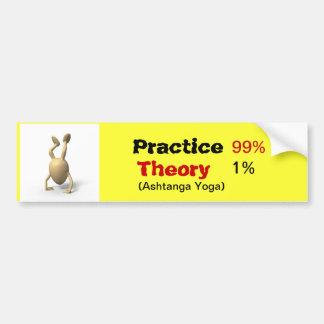 Pegatina para el parachoques de la yoga pegatina para auto