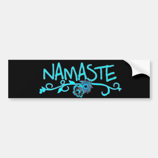 Pegatina para el parachoques de la yoga de Namaste Etiqueta De Parachoque