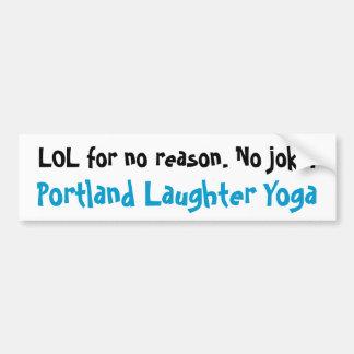 Pegatina para el parachoques de la yoga LOL de la  Pegatina Para Auto