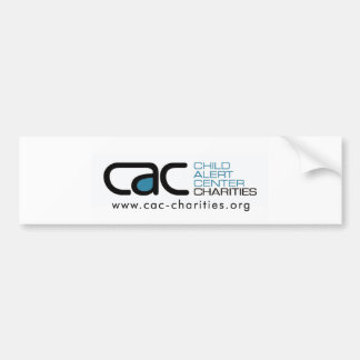 Pegatina para el parachoques de las CAC-Caridades Pegatina De Parachoque