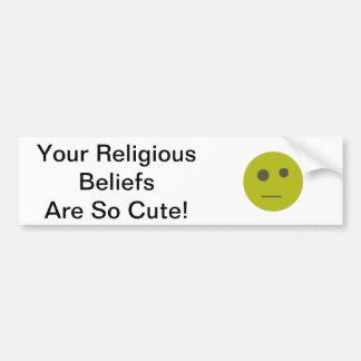 Pegatina para el parachoques de las creencias reli pegatina para auto