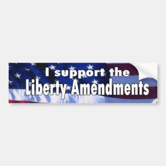 Pegatina para el parachoques de las enmiendas de l etiqueta de parachoque