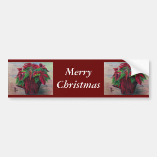 Pegatina para el parachoques de las Felices Navida Etiqueta De Parachoque