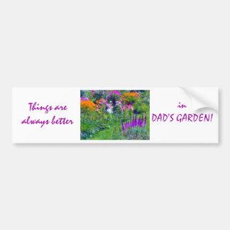 pegatina para el parachoques de las flores del pap pegatina para auto