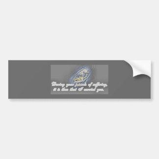 Pegatina para el parachoques de las huellas etiqueta de parachoque