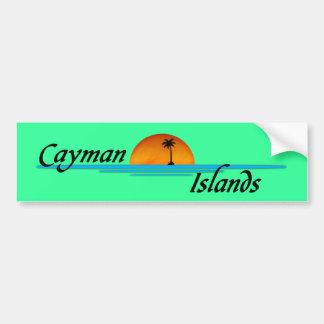 Pegatina para el parachoques de las Islas Caimán Pegatina Para Auto