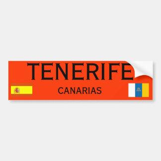 Pegatina para el parachoques de las islas Canarias
